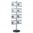 Infoständer 8/16 xA4 mit 8 Infotaschen für bis zu 16 x DIN A4 Querformat aus Acryl