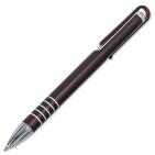 Druckkugelschreiber Trinidad: ausgefallener Clip, Zierringe im eleganten Farbmix