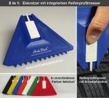 Eiskratzer DUO 2 in 1 Produkt: mit Reifenprofilmesser Doppelnutzen !