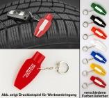 Reifenprofilprüfer & Ventilkappendreher: Messbereich 0-20mm mit Schlüsselring