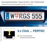 Kennzeichenhalter EASY-CLICK & GO: mit Schiebeverschluß, für Österreich