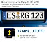 Kennzeichenhalter EASY-CLICK & GO: mit Schiebeverschluß