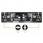 Kennzeichenhalter EASY-LOCK & GO: Drehverschlüsse integriert