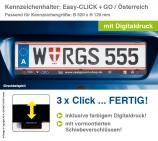 Kennzeichenhalter EASY-CLICK & GO: mit integrierten Schiebeverschlüssen