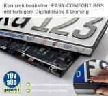 Kennzeichenhalter EASY-Comfort-RGS: Digitaldruck & Doming: kratzfest versiegelt