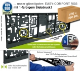 Kennzeichenhalter EASY-Comfort-RGS mit Schiebeverschluss für EU-Kennzeichen