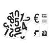 Steckzahlen-Set für Verkaufsschild Sale: 36 Zahlen / Zeichen