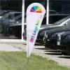 Wings-Banner Set 1: Trendy: mit Ihrem Logo, mit Erdspieß, Gestänge & Tasche