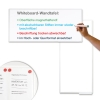 Whiteboard-Wandtafel beschriftbar, magnethaftend, inkl. Ablageschale
