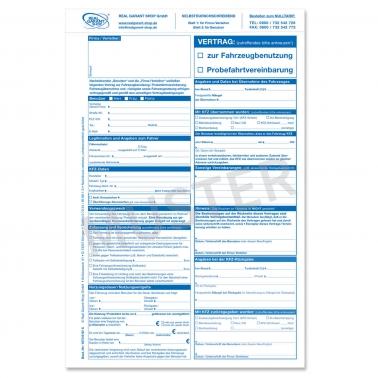 Vertrag Fahrzeugbenutzung Probefahrtvereinbarung