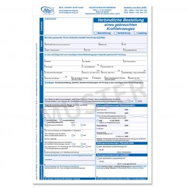 Verbindl. Bestellung Kaufvertrag Gebrauchtwagen f. KFZ-Handel