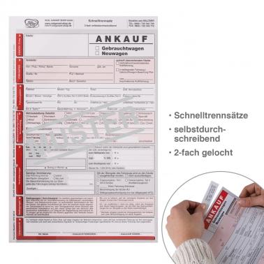 Ankaufvertrag KFZ Neu-/ Gebrauchtwagen, KFZ-Handel, 3-fach