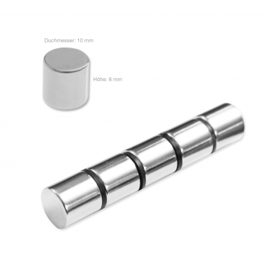 Neodym-Magnete 5 Kraftmagnete: Haftkraft je 3500 g