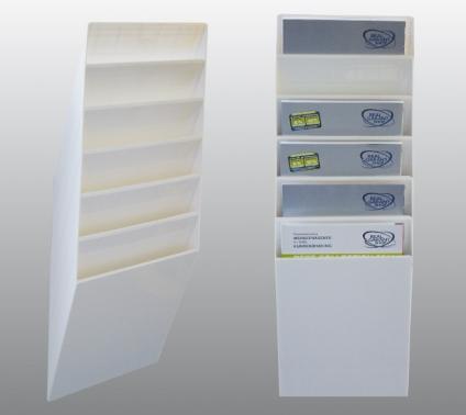 Prospekthalter Office-Line: 6 Fächer für A4 Hochformat