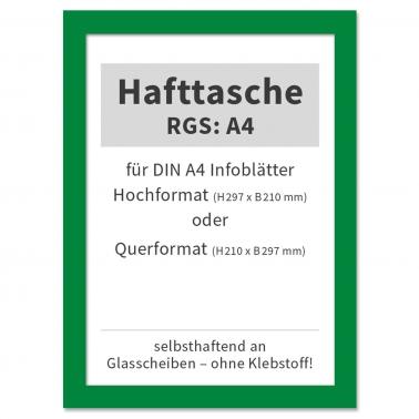 Hafttasche RGS: A4 selbsthaftend an Glasscheiben, bis 120° hitzebeständig