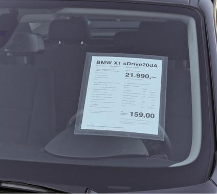 """Hafttasche """"RGS"""" für DIN A4 Infoblätter Hoch-& Querformat formstabil bis 120°"""