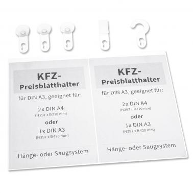 Acrylglashalter DIN A 3: Multi Set mit 5 Adapter