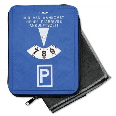 Parkscheibe Time & Pocket mit Microfaser-Tuch für Brillen / Glas !