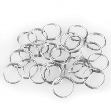 Schlüsselringe Eco: Ø 20 mm, 1-fach gebogen, 100 Stück