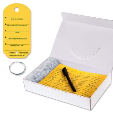 Schlüsselanhänger Car: Sparpackung mit 200 Stück, 1 Stift