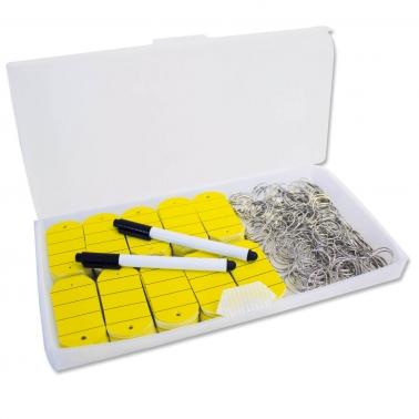 Schlüsselanhänger Uni: 200 Anhänger / Ringe mit 2 Stiften