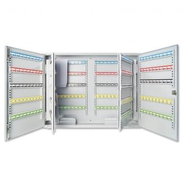 Schlüsselschrank mit 400 Haken: Hakenleisten verstellbar nummeriert: 1-400