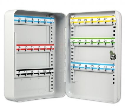Schlüsselkassette mit 42 Haken: Hakenleisten verstellbar nummeriert: 1-42