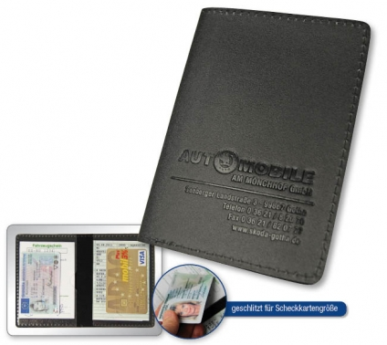 Führerscheintasche Lederfaser I: für Ausweispapiere, für Scheckkarten