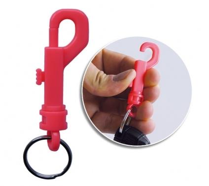 Karabinerhaken incl. doppelt gedrehtem Schlüsselring