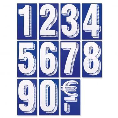 Preisziffern-Set 75 Zahlen / Sonderzeichen, selbstklebend ablösbar, wetterfest