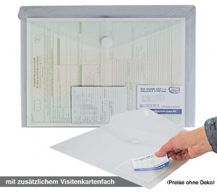 Dokumententasche A4 mit Visitenkartenfach, Klettverschluß