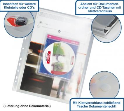 Dokumententasche A4 mit Heftrand, Dehnfalte, Extrafach innen