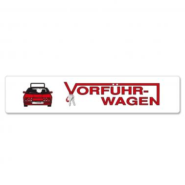 Miniletter Graphics: Vorführwagen, Kennzeicheneinleger