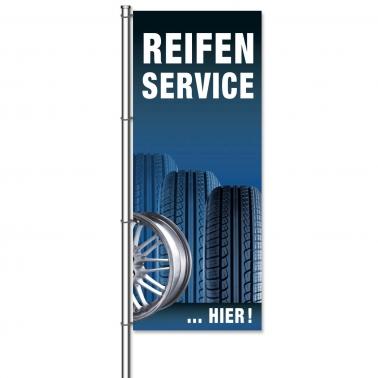 Fahne Reifenservice Hier Reifenservice: Motiv Reifen & Felge
