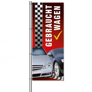 Fahne Gebrauchtwagen Design: Racing - mit Bildmotiven