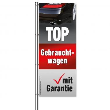 Fahne Gebrauchtwagen TOP-Gebrauchtwagen mit Garantie