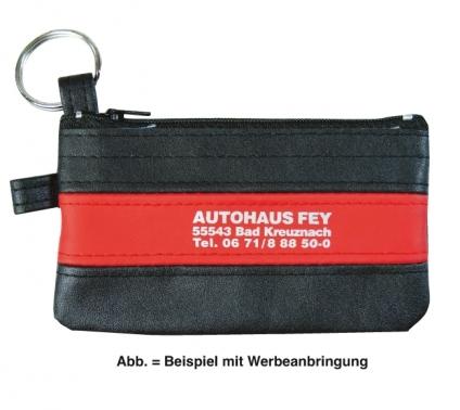 Schlüsseltasche Colour Logo mit rotem Farbstreifen