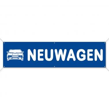 Spannband Neuwagen Werbebanner mit Automotiv: Breite 400 cm