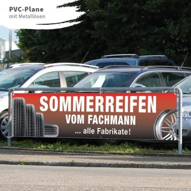 Spannband PVC Sommerreifen vom Fachmann, PVC-Plane