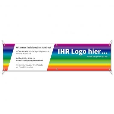 Spannband Individual mit Ihrem Logo: 6-fach geöst, 300x75 cm