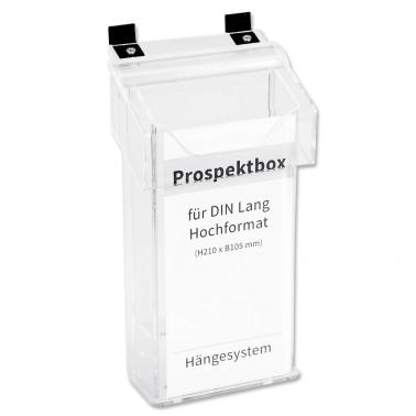 Prospektbox/Infobox Car: für DIN lang Prospekte, mit Deckel für In- & Outdoor