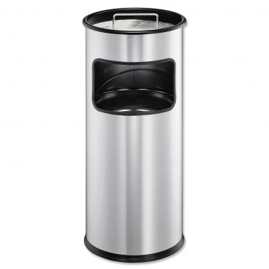 Standascher mit Abfallkorb aus Metall, rund