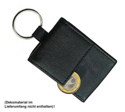 Blackmaxx Minibörse Geldbörse im Miniformat aus echtem Leder mit Schlüsselring