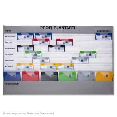 Plantafel Profi A4 Werkstattplaner 7 Reihen (6+1) Zeitskala