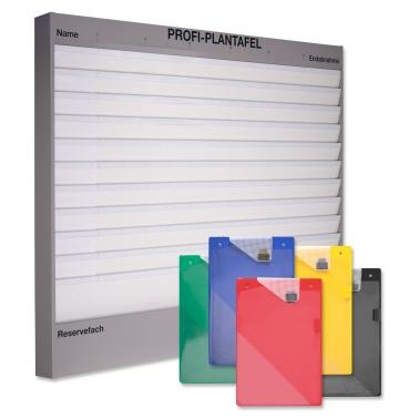 Plantafel-Set Profi: 11 Reihen (A4) + 50 Mappen in 5 Farben