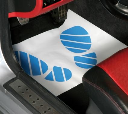 Autoteppich-Schoner Fußraumschoner, saugfähig, 250 Stück