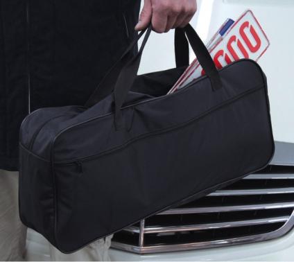 Kennzeichentasche XL Zulassungstasche für KFZ-Schilder mit extra Seitenfach