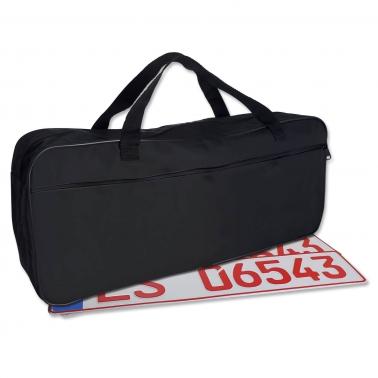 Kennzeichentasche XL für KFZ-Schilder: Hauptfach & Seitenfach