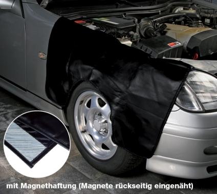 Kotflügelschoner mit Magnethaftung und Radausschnitt