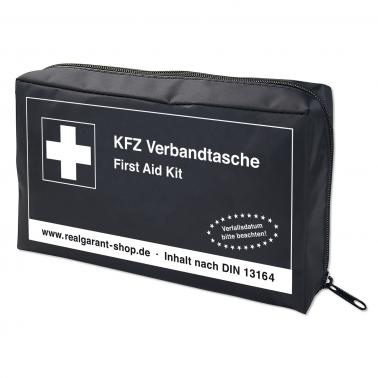 KFZ Verbandtasche mit Klettstreifen, Inhalt nach DIN 13164